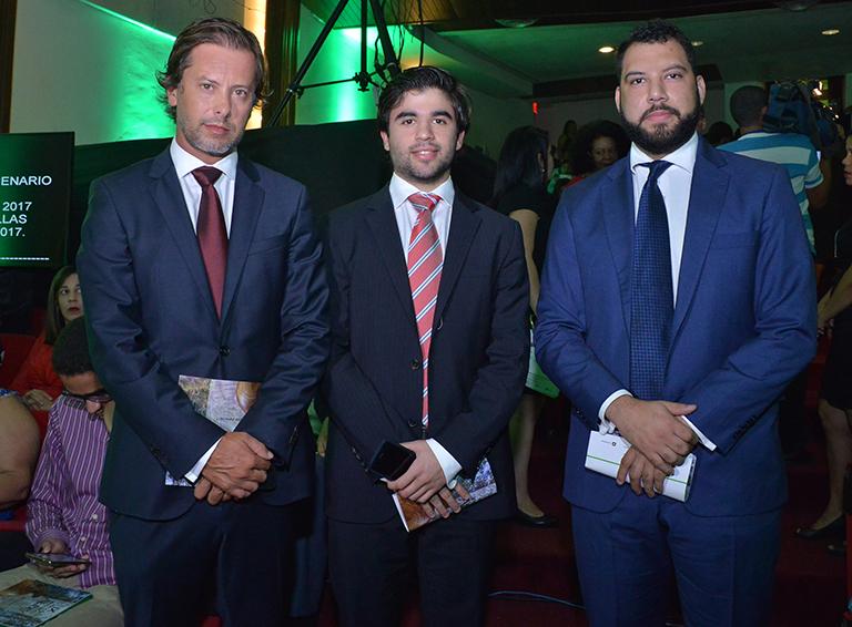Bruno Cid, Teofilo Lama y Asael Martinez.