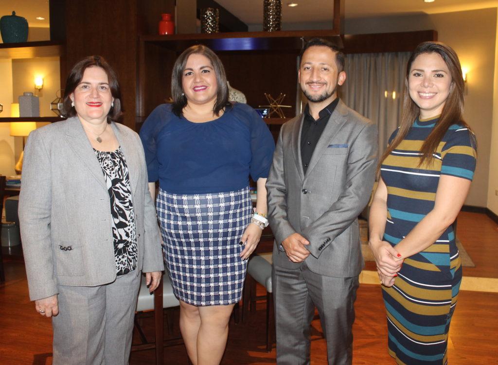 Gianel Peña, Rocío Fernández, Roger Segura y Sandra Bernal