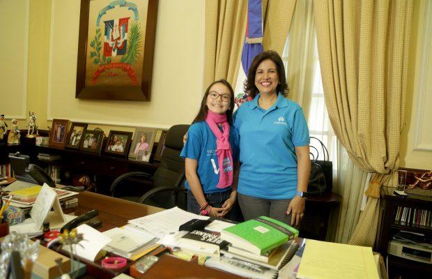 Niña de 11 años asume rol de vicepresidenta por un día