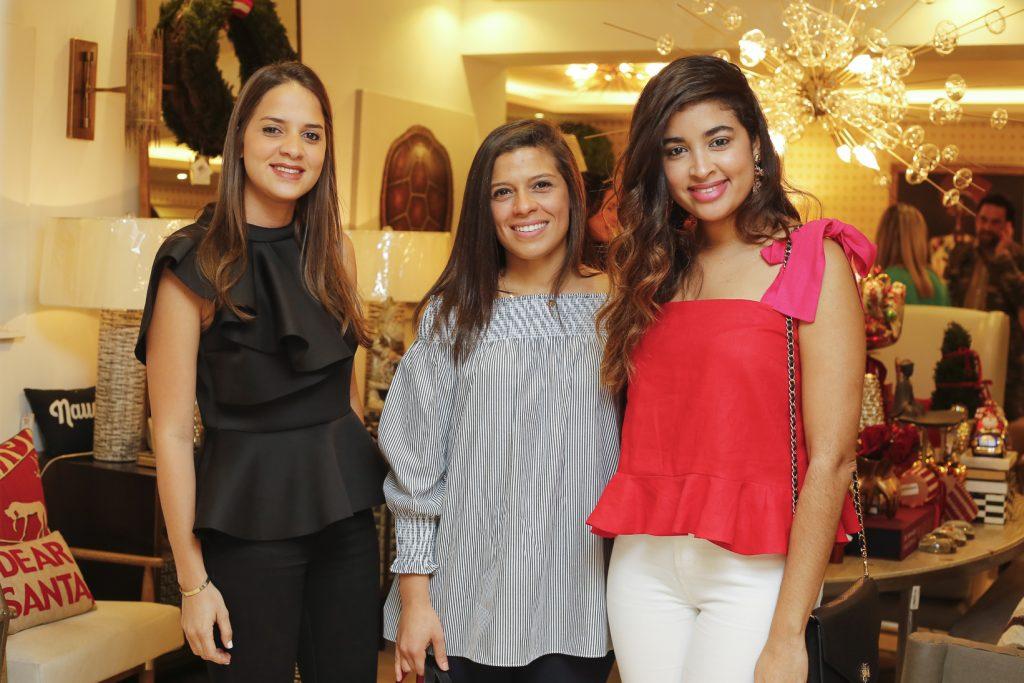 Raquel Henríquez, Karla Arias y Tiara Machado