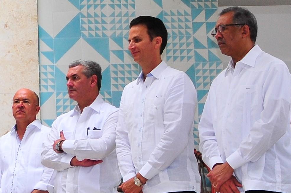 Francisco Domínguez Brito, Gonzalo Castillo, Walter Musa y Simón Lizardo.