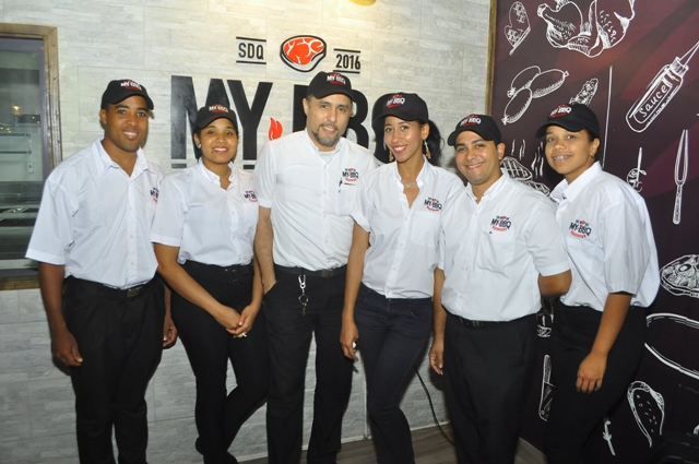 Los camareros del restaurante.