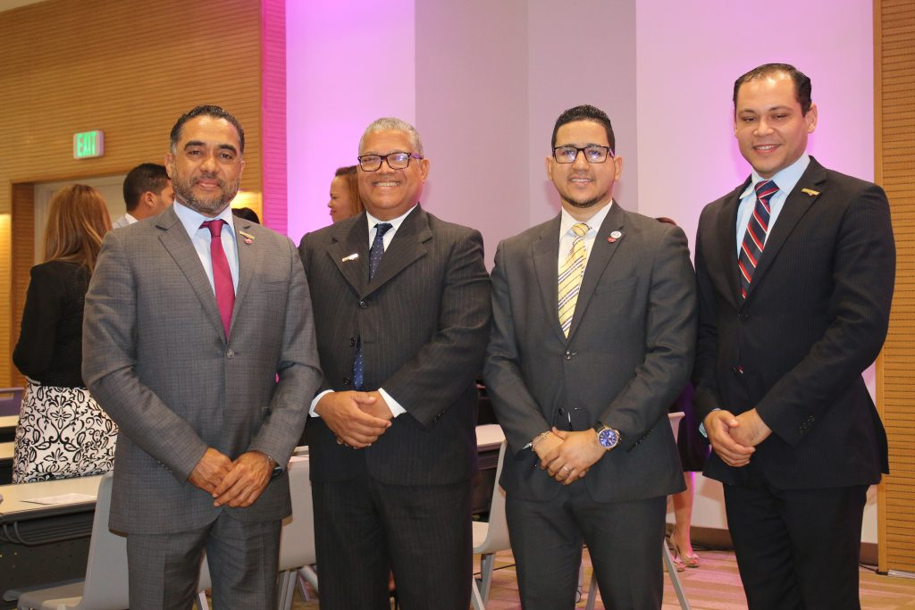 Junior Calcaño, Héctor García, Rey Fernández y Mignio Chávez