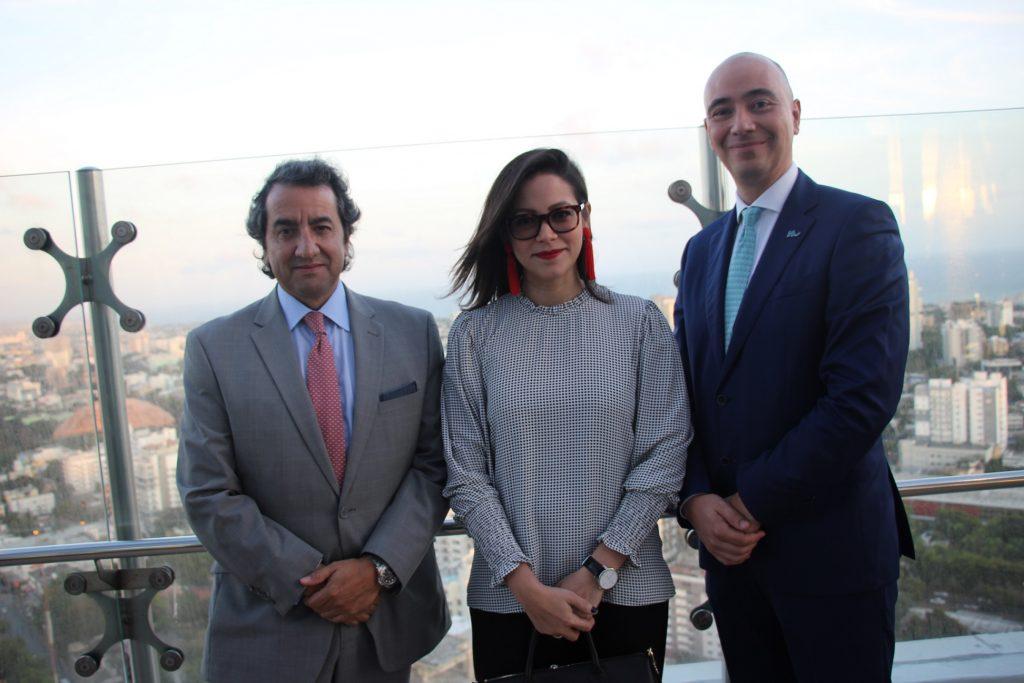 Jaime Caycedo, Marlenene Diesth y Juan Carlos Retrepo