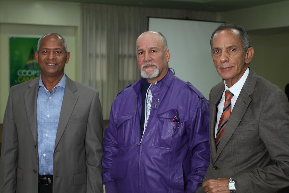 César López, Mario Alcántara y Negro Santos