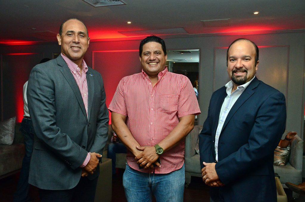 Diego Campos, Byron Castro y Diego Almonte.
