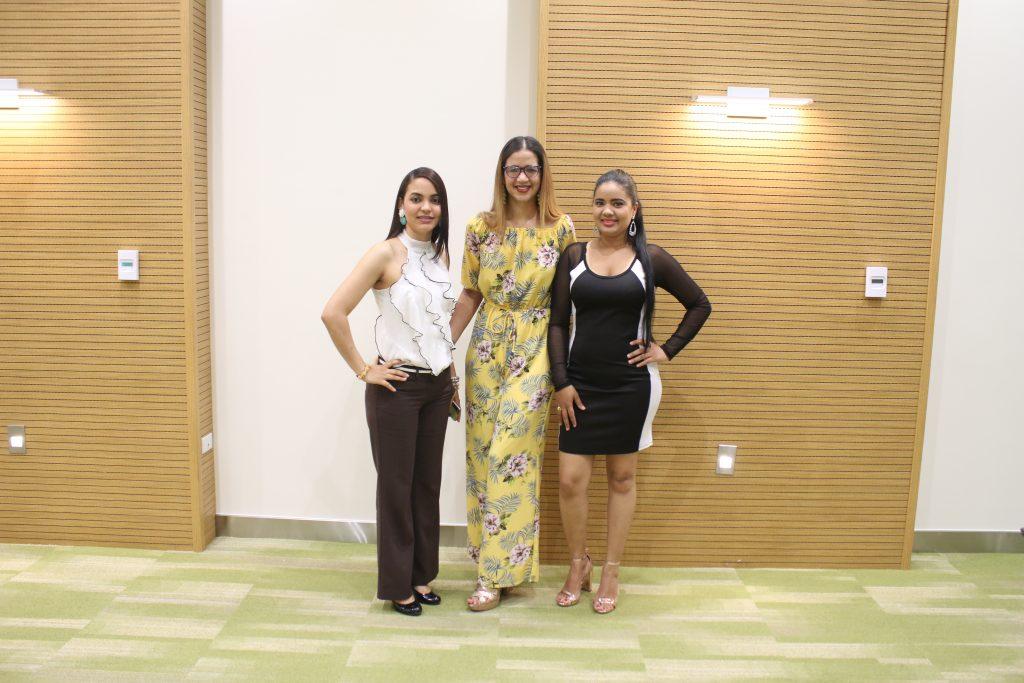 Johanna Brito, Alfida Franco y Nicauris Díaz.