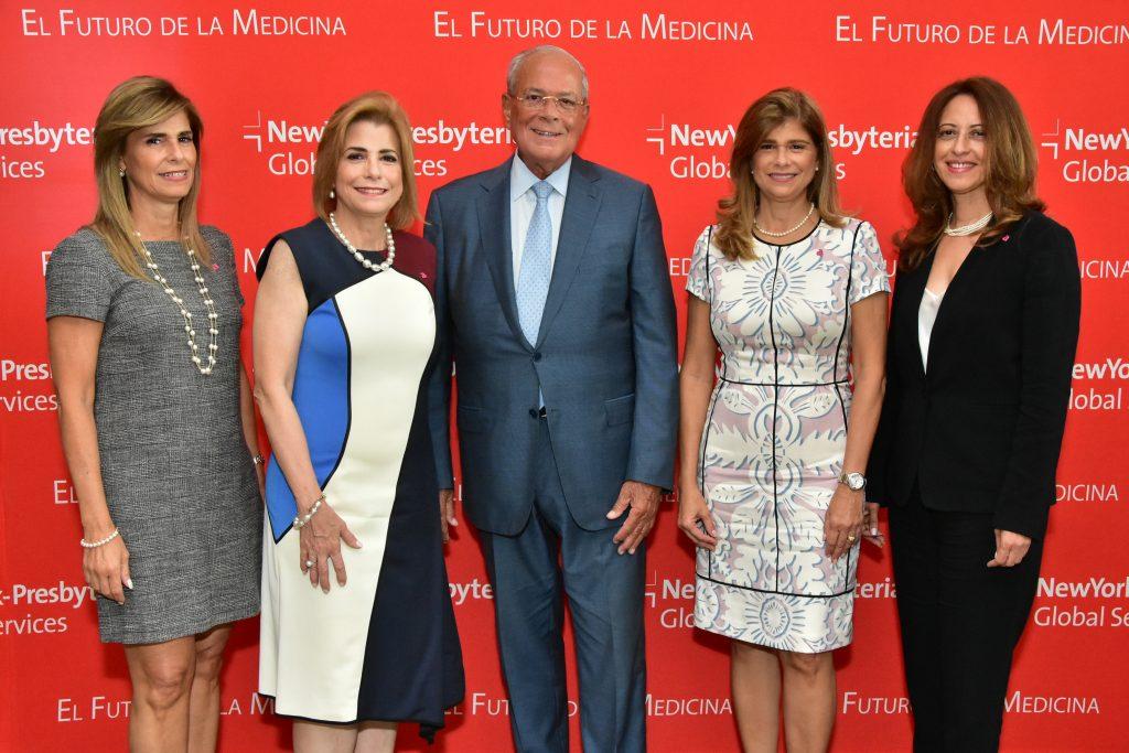 Jackeline González, Patricia González de Bergés, Octavio González, Pilar González y Jacqueline Martínez