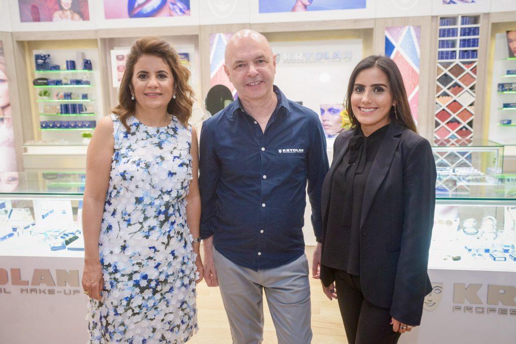 Xiomara Salas, Jos Brands y Anais García.
