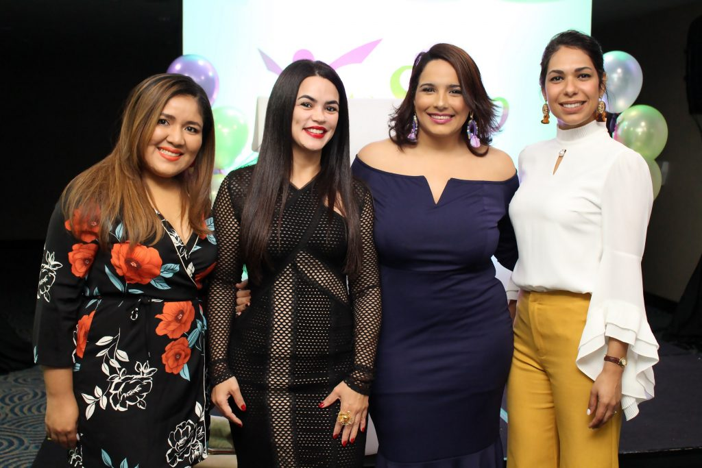 Fiorella Rubio, Ircania García, Elizabet Gutiérrez y Yisellis Portes