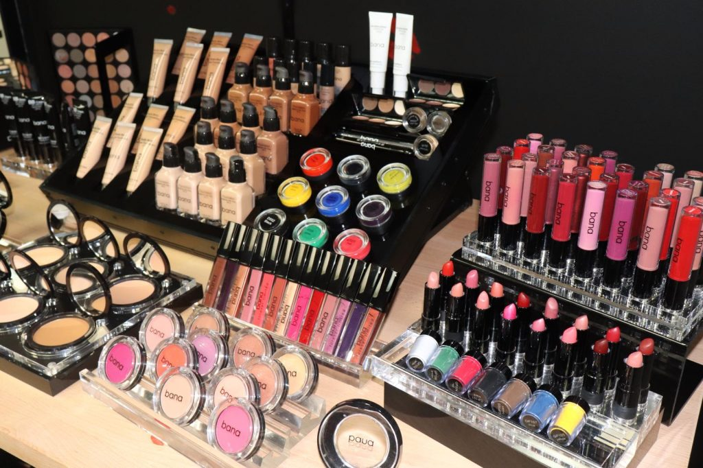 Productos de Bana Cosmetics.