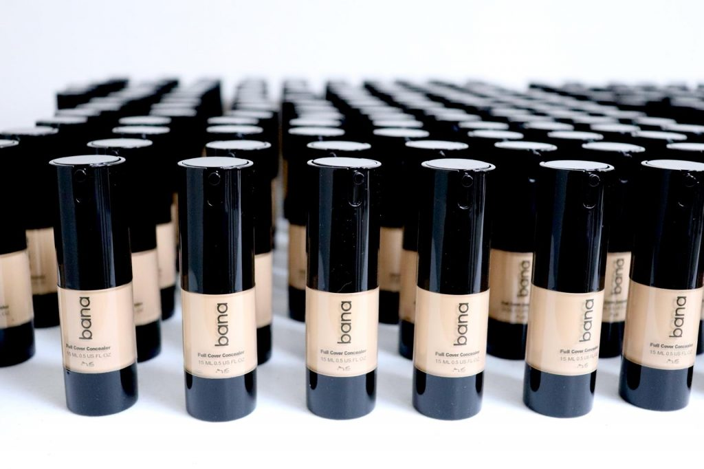 Productos de Bana Cosmetics..