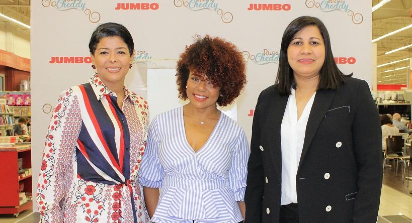 Cinthia Antonio, Cheddy García y Cony Taveras.