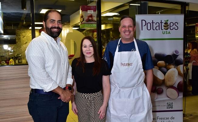 Orlando Camilo, Tatiana Quiros, y Chef Luigi