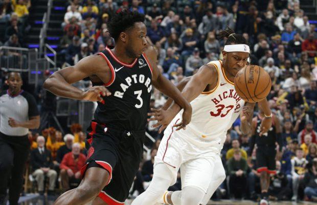 Raptors llegan a 12 triunfos seguidos al superar a Pacers